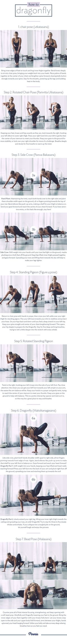 Best workout tip : Yoga Poses & Workouts For Beginners: How to Dragonfly in seven steps Ashtanga Yoga, Vinyasa Yoga, Sanftes Yoga, Sup Yoga, Yoga Moves, Yoga Flow, Yoga Exercises, Yoga Bra, Fitness Workouts