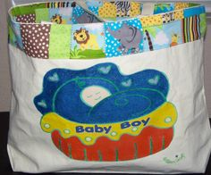 Baby Boy Diaper Tote by KidBabies on Etsy, $45.00