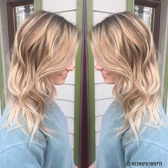 Perfect ash blonde balayage Ombre. Haircolor. Blonde hair. Beach waves. Textured hair. Highlights