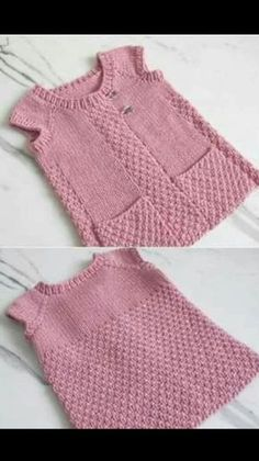 This Pin Was Discovered By Оксана Яблонц - Diy Crafts - Hadido - Diy Crafts Diy Crafts Knitting, Easy Knitting Patterns, Free Knitting, Baby Knitting, Crochet Girls, Crochet For Kids, Crochet Baby, Knit Baby Dress, Baby Cardigan