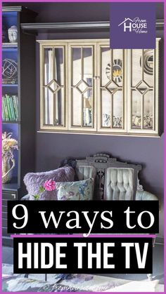 Looking for an easy way to disguise or hide the TV in your room? Whether you want to DIY a TV art cover or buy a TV cabinet, this list of ideas will help. #fromhousetohome #homedecor #livingroom #decoratingtips  #diyhomedecorprojects Living Room Mantel Decorating Ideas, Interior Decorating Tips, Decorating On A Budget, Diy Home Decor On A Budget, Diy Home Decor Projects, Home Decor Trends, Decor Ideas, Chic Living Room, New Living Room
