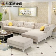 Furniture is one of the necessary accessories if you want to have a stylish and chic interior at you Living Room Decor Blue Sofa, Living Room Sofa Design, Bedroom Bed Design, Living Room Sectional, Living Room Designs, Corner Sofa Living Room, Living Rooms, Sofa Set Designs, L Shaped Sofa Designs