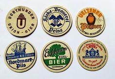 Good Condition 25 German Beer Mats Vintage 1980s