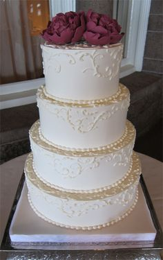 Simple wedding cake by Scrumptions