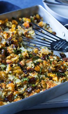 Rich chestnuts and dried fruit elevate this simple bread stuffing to the status of Roast Turkey BFF.