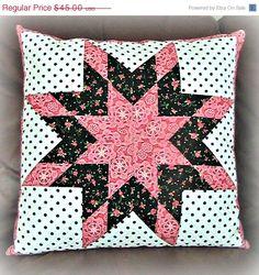 ON SALE LeMoyne Star Quilt Pillow Sham Shabby by DarBieStitches