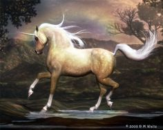 This glorious golden Unicorn would be fabulous to gallop to the beach upon...dressed in a glittery gown, of course!