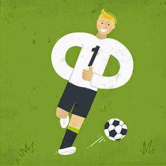 ALL IS FULL OF LOVE: Буква Футболист