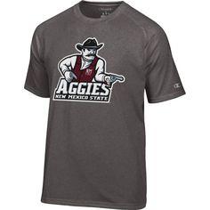 Champion Men's New Mexico State Aggies Grey Big Logo T-Shirt, Size: Medium, Team