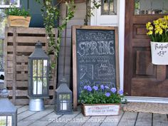 DIY:: Gorgeous  Front Porch Spring  #DIY Updates & Ideas !! by @Daune Fricks Pitman Cottage In The Oaks !