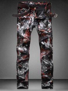 RUIYUNS Mens Distressed Destroyed Slim Fit Zipper Biker Jeans Moto Hole Denim Pants Trouser