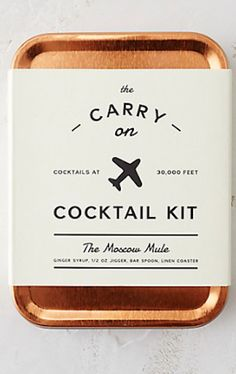 carry on Moscow Mule kit - perfect for travel
