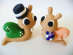 Snail Wedding Cake Topper - Choose Your Colors