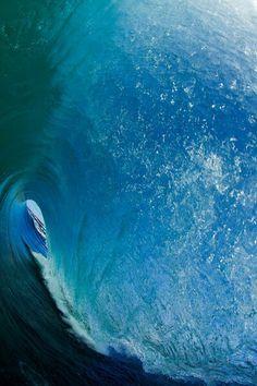 Inside ocean wave
