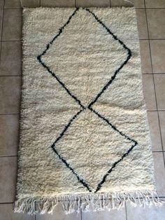 Rare-Moroccan-Beni-Ourain-Antique-Berber-Rug-411-X-32-2-150cm-X-96cm