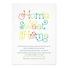 Fun Amp Whimsical Housewarming Party Invitation Invitations Gift Baskets Cocktail