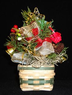Miniature Basket with handcrafted Floral Arrangement.
