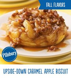 Caramel and apples create a delicious breakfast loaded with fall flavor! This Upside-Down Caramel Apple Biscuit is perfect for those special weekend breakfasts. They're loaded with caramel, brown sugar, apples and pecans all piled high on top of a warm biscuit. Start your morning off on a delicious note!