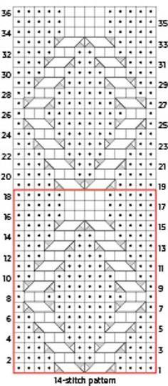 No Cross Diamond Knit Pattern