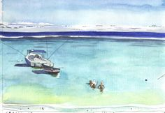Mauritius Really is as Magical as it Looks, as Demonstrated by Roisin Cure's Paintings Magical Paintings, Magic Mirror, Mauritius, The Cure, Around The Worlds, Watercolor, Artist, Pen And Wash, Watercolor Painting