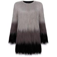 Unreal Fur Dawn To Dusk Grey Faux Fur Coat