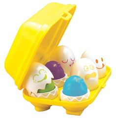 Buy Tomy Play to Learn - Hide n Squeak Eggs at Mighty Ape NZ. Tomy Play to Learn – Hide n Squeak Eggs Tomy hide n squeak eggs are suitable way to develop your child's shape sorting and motor skills and they prov. Toddler Gifts, Toddler Toys, Kids Toys, Infant Toddler, Baby Easter Basket, Easter Baskets, Egg Game, Egg Toys, Eggs For Baby