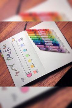 Back to school Bujo Mood Tracker - Bullet Journal Bullet Journal Tracker, Bullet Journal Notebook, Bullet Journal Inspo, Bullet Journal Layout, Back To School Bullet Journal, Journal Themes, Journal Ideas, Like Facebook, Journal Inspiration