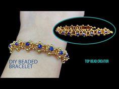 Beaded Bracelets Tutorial, Beaded Bracelet Patterns, Handmade Bracelets, Beaded Jewelry, Making Bracelets With Beads, Seed Bead Bracelets, Jewelry Bracelets, Dyi, Jewelry Making Tutorials