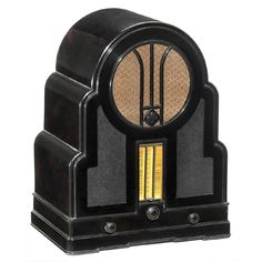 Radio Telefunken 500 Superhet, c. 1933 - May 2017 Musica Disco, Radio Antigua, Retro Radios, Old Time Radio, Antique Radio, Machine Age, Televisions, Lps, Steam Punk
