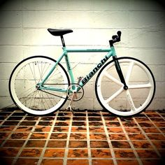 I ride a Bianchi. Not this one, unfortunately.
