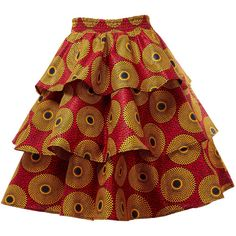 Entari Skirt New In Three Tier African Print Ankara Knee Length Skirt African Print Dress Designs, African Print Skirt, African Print Dresses, Short African Dresses, Latest African Fashion Dresses, African Clothing Stores, Lace Dress Styles, Stylish Dress Designs, Ankara Skirt