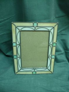 Beautiful Art Deco Style Stained Glass Picture Frame Desktop Handmade 8 by 6 | eBay