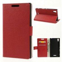 Funda Book Sony Xperia T3 Simple Magnetica Roja S/. 40.00