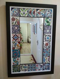 feylesof✓ #çini #ayna Ceramic Tile Crafts, Ceramic Art, Diy Wall Decor For Bedroom, Home Decor, Spiegel Design, Mirror Painting, Diy Mirror, Ceramic Design, Innovation Design