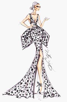 Hayden Williams Fashion Illustrations: Hayden Williams Haute Couture V Illustration Mode, Fashion Illustration Sketches, Fashion Sketches, Dress Sketches, Fashion Sketchbook, Hayden Williams, Fashion Art, Girl Fashion, Classy Fashion
