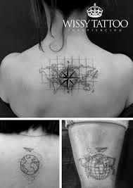 Resultado de imagen para tatuajes de mapas del mundo