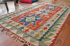 FREE SHIPPING Turkish kilim .Anatolian - Rug Carpet.- handwoven kilim rug - antique kilim rug - decorative kilim - natural wool