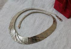Alte 925er Silber-Collier Stabhalskette 60iger von Schmuckbaron