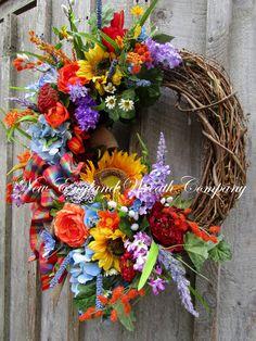 Cohasset Country Garden Wreath
