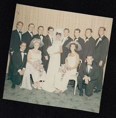Old Vintage Photograph Gorgeous Bride & Groom With Huge Wedding Party | Collectibles, Photographic Images, Contemporary (1940-Now) | eBay!