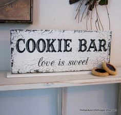 cookie bar sign