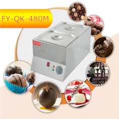 265.88$  Buy now - http://aliu7n.worldwells.pw/go.php?t=32694690535 - 3PC FY-QK-480M Hot Sale Double-cylinder Electric Chocolate Fountain Fondue Hot Chocolate Melt Pot melter Machine 265.88$
