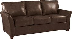 Eden Sofa by La-Z-Boy in recycled chocolate leather