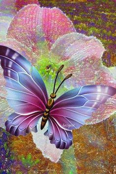 ❥ Just when the caterpillar thought the world was over, it became a butterfly. Butterfly Gif, Butterfly Pictures, Butterfly Wallpaper, Butterfly Kisses, Art Papillon, Beau Gif, Beautiful Gif, Animation, Glitter Graphics