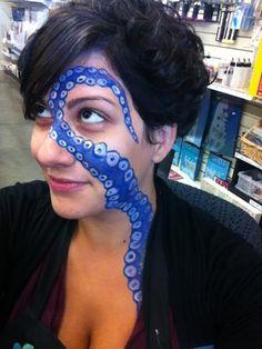 Octopus/Kraken Face paint