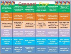 GCSE PE: Revision Grid - can you answer all these questions? pic.twitter.com/ucj03XPSgA