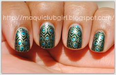 MAQUICLUB GIRL: Monkey See Monkee Do: Uñas Pavo Real / Peacock Nails (BM-212)