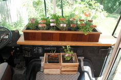 Herb Shelf on the dash - yes!