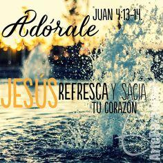 Juan 4:13-14 Respondió Jesús y le dijo: Cualquiera que bebiere de esta agua, volverá a tener sed; mas el que bebiere del agua que yo le daré, no tendrá sed jamás; sino que el agua que yo le daré será en él una fuente de agua que salte para vida eterna. ♔