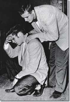 On May 13, 1956, Elvis Presley arrived in the Twin Cities to play two concerts: a matinee (3:00pm) at the St. Paul Auditorium and an evening gig at the Minneapolis Auditorium ~ Elvis, exhausted after a matinee performance given at the Auditorium in St. Paul, Minnesota.